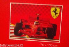 OFFICIAL FERRARI RED CAR FLAG 70 X 100 CM  MENS XMAS GIFT BRAND NEW BOYS WALL