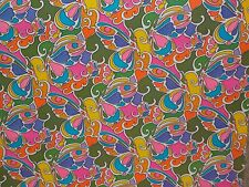 Vtg Wrapping Paper Gift Wrap 1960 Retro Butterfly Hippie 70'S Show Psychedelic