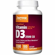 Jarrow Formulas, Vitamin D3, 2500 IU, 100 Softgels