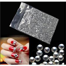 1440x Flat Back Rhinestones Nail Art Decor 2mm Clear Nail Art Crystal Stones DIY