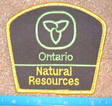 ONTARIO MNR Ministry Of Natural Resources PATCH police,parks hunting fishing