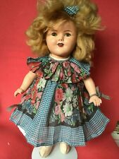 SHIRLEY TEMPLE DOLL COMPOSITION 1930s ORIGINAL CLOTHES