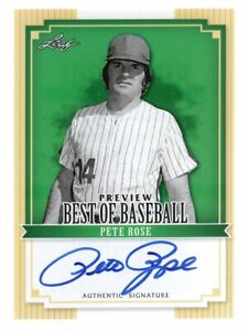 PETE ROSE 2012 LEAF BEST OF BASEBALL PREVIEW ON CARD AUTO AUTOGRAPH REDS SSP