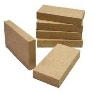 "Vermiculite Fire Bricks 4.5"" x 9"" Woodburner Logburner Multi Fuel Villager Stove"