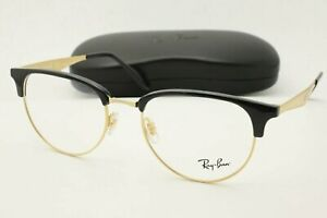 New Ray Ban RB 6396 Eyeglasses 5784 Black and Gold Optical Frames 53mm
