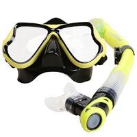 Scuba Snorkel Set for Adults,Tempered Glass Diving Mask Snorkeling Snorkel