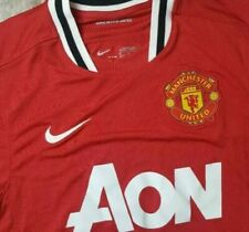 Manchester United 2011-2012 Nike AON Home Red Soccer Jersey ManU Mens XL