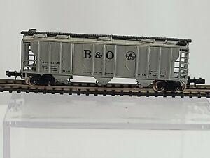 Bachmann N Scale Baltimore & Ohio 3 Bay Cover Hopper Freight Train Car # 837062