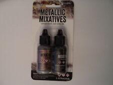 TIM HOLTZ Metallic Mixatives Ink 2 Pk 'ROSE GOLD & GUNMETAL' BNIP **LOOK**