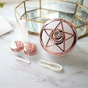 Rose Gold Pentagram Coloured Contact Lens Lenses Travel Kit Mirror Case