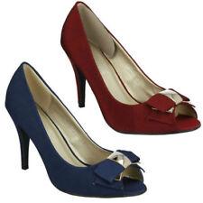 Open Toe Bow Heels for Women