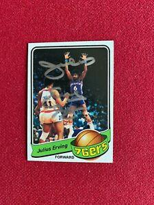 """1979-80, Julius """"Dr.J."""" Erving, """"Autographed"""" (JSA) TOPPS Card (Scarce/Vintage)"""