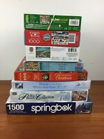 HUGE Christmas Holiday Jigsaw Puzzle Lot - 1000 750 Piece - Springbok Ceaco
