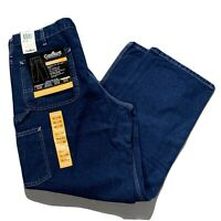 NEW Carhartt Mens Washed Denim Carpenter Work Jeans Dungaree Fit 36 x 30