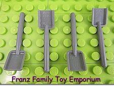 New LEGO Tools Minifig Shovel Lot of 4 Dark Bluish Gray Harry Potter Castle City