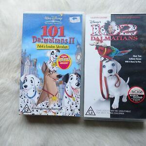 101 DALMATIANS II & 102 DALMATIANS 2 Pack VHS Video Tape ANIMALS Dogs ADVENTURE