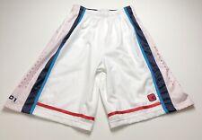 AND1 Men's Basketball Shorts Small MultiColor Elastic Waist Drawstring Pockets
