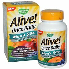 Nature's Way, Alive! Once Daily, Men's 50+, Multi-Vitamin, x 60 Tablets .