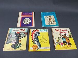 Lot de 5 livres pour enfants ,complet mais en état d'usage