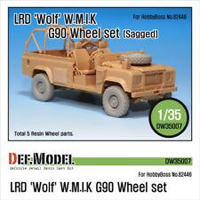 Def. modelo, LRD Wolf 'w.m.i. K' G90 hundida juego de ruedas, DW35007, 1:35