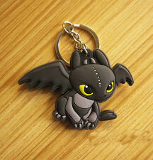 New How to Train Your Dragon  Double Sides Soft Rubber Keyring Keychain