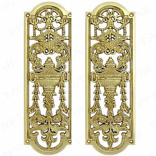 2x Brass Decorative Push Plates Heavy Solid Screws High Quality Posh Finger Door