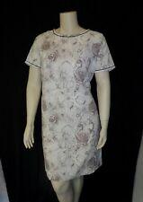 New listing Black & White Floral Print Sheer Vintage 1950's Women's Plus Size Dress 2Xl 3Xl