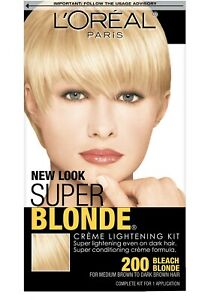 L'OREAL SUPER BLONDE 200 Creme Lightening Kit BLEACH BLONDE - BNIB SEALED