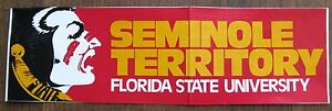 SEMINOLE TERRITORY Bumper Sticker - Florida State University
