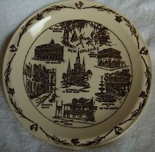 Vernon Kilns New Orleans Vieux Carre plate-HTF graphics