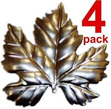 "Metal Stampings Small Grape Leaves Leafs Wine Vinards BRASS .020"" Thickness L33"