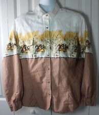 Roper 2XL XXL Horse Stampede John Sanders Long Sleeve Snap Down Shirt