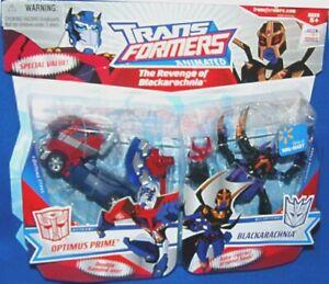 Transformers Animated Deluxe Class Cyberton Optimus Prime vs BlackarachniaNew