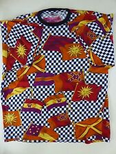 Vintage - Versace V2 - Multi Color - T Shirt - 1990's - Made in Italy - XL