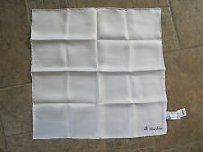 BROOKS BROTHERS Pocket Square Handkerchief 100% Silk Brand New White
