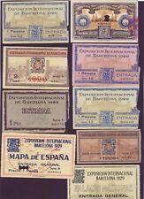 LOTE DE 9 ENTRADAS DE LA EXPOSICION INTERNACIONAL DE BARCELONA DE 1929