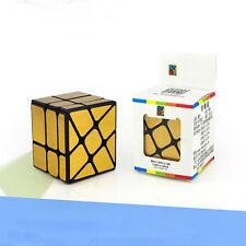 Moyu MoFangJiaoShi Mirror 3x3x3 Golden Cube Speed Twist Magic Bump Puzzle Toys