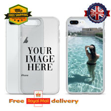Personalised Custom Photo Clear Phone Case Cover For Apple iPhone Customisable