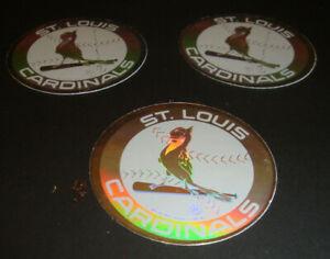 1989 Upper Deck Vintage 80's Logo Hologram Stickers St. Louis Cardinals Lot of 3