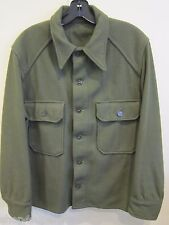 US Army Military Field Cold Weather 100% Wool Olive Green Shirt Small EUC