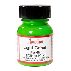Angelus brand LIGHT GREEN acrylic leather paint 1 oz.