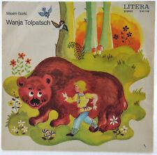 """MAXIM GORKI - Wanja Tolpatsch - LITERA 565108 - 7"""" - Vinyl - DDR - Hörspiel"""