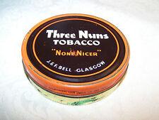 THREE NUNS ROUND TOBACCO TIN - ''NONE NICER'' - J. & F. BELL GLASGOW