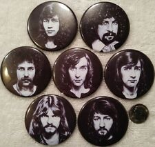 ELO PIN LOT Electric Light Orchestra 7 Small B/w BUTTONS Rare Jeff Lynne UFO
