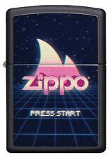 ZIPPO LIGHTER BLACK MATTE PRESS START (91115) GIFT BOXED - AU STOCK !