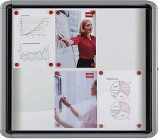 Nobo Schaukasten - Alu Infokasten für Innen, 6 x DIN A4, Schaukästen magnetisch