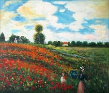 Hand Painted Oil Painting Repro Monet Les Coquelicots a Argenteuil, 20x24in