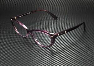 VERSACE VE3258 5268 Transparent Violet Demo Lens 53 mm Women's Eyeglasses