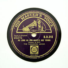 "THE VAGABOND LOVER ""As Long As Our Hearts Are Young"" HMV BD-318 [78 RPM]"