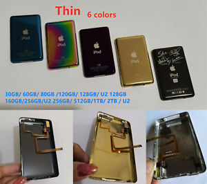 Thin Metal Back Case Housing Audio Jack Hold Switch for iPod Classic All Colors